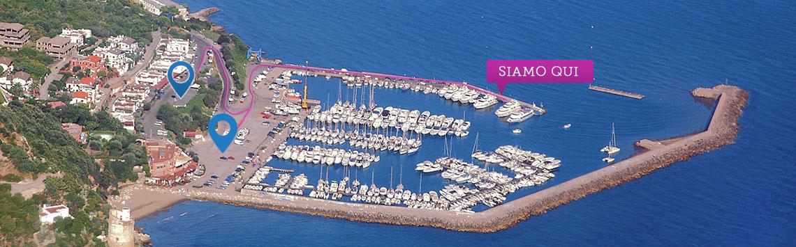 Parcheggio porto di San Felice Circeo